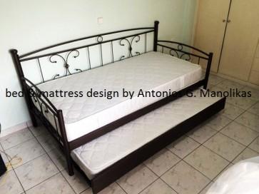 Καναπές με δύο κρεβάτια ή ένα μόνο μεταλλικός-σιδερένιος