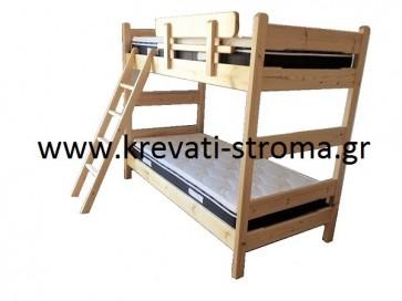 Κουκέτα κρεβάτι για δύο παιδιά μασίφ προσφορά