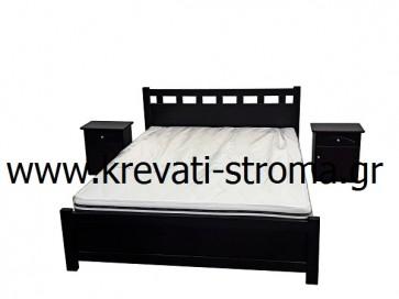 Κρεβάτι μασίφ πεύκο διπλό βέγκε σε τιμή προσφοράς