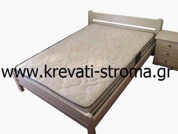 Κρεβάτι διπλό μασίφ ξύλο πεύκο σε τιμή προσφοράς