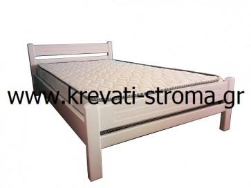 Κρεβάτι μασίφ ξύλο ημίδιπλο (110 στρώμα) σε χρώμα άσπρο-λευκό για έφηβους-φοιτητές-νέους σε τιμή προσφοράς