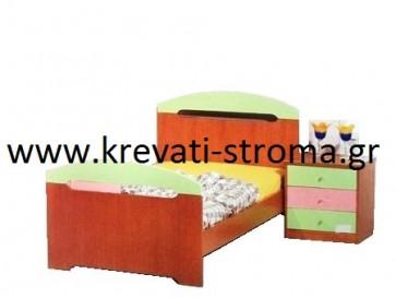 Κρεβάτι mdf ανεγκρέ παιδικό σε πολλά χρώματα