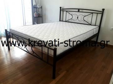 Κρεβάτι μεταλλικό-σιδερένιο ηλεκτροστατικής βαφής