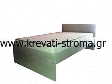 Κρεβάτι minimal σε πολλά χρώματα μοριοσανίδα-βακελίτης-μελαμίνη