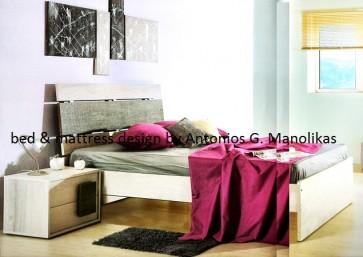 Κρεβατoκάμαρα ξύλινη μοντέρνα σετ