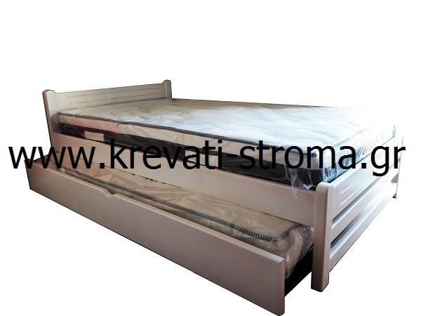 1e8551991b8 Κρεβάτι παιδικό με αποθηκευτικό χώρο συρταρωτό μονό (0.90 στρώμα) από μασίφ  ξύλο σε πολλά χρώματα