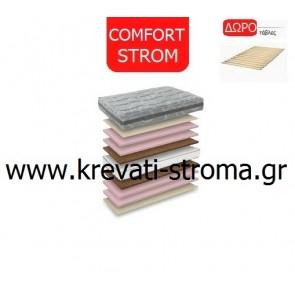 Στρώμα ανατομικό comfort strom grey μονό 090χ190 ή 090χ200 με δώρο σανίδες στήριξης