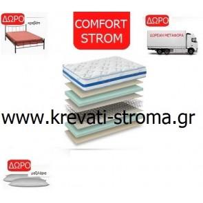Στρώμα comfort strom nuevo από το εροστάσιο στην Λάρισα θεσσαλίας για κρεβάτι μονό έως 90 πόντους φάρδος