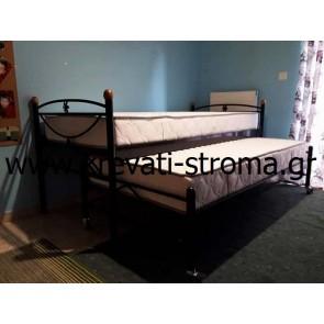 Χαμηλά δύο κρεβάτια συρταρωτά μεταλλικά-σιδερένια