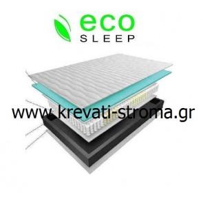 Στρώμα eco sleep dual pocket μονό 90χ190 πόντους ανατομικό ετοιμοπαράδοτο.Παραδίδετε και σε roll pack