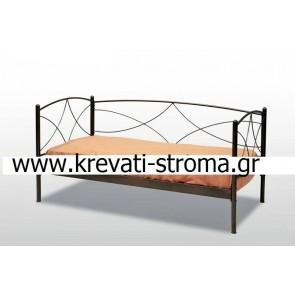 Καναπές κρεβάτι με στρώμα και τάβλες κομπλέ (Αιγάλεω) στην καλύτερη τιμή προσφοράς (ετοιμοπαραδοτο)