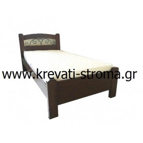 Κρεβάτι από ξύλο οξιάς σε μονό,ημίδιπλο,διπλό