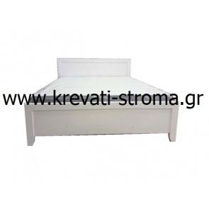 Κρεβάτι διπλό μασίφ ξύλο λευκού χρώματος για νησί και όχι μόνο κομπλέ-σετ με βάση και στρώμα ορθοπεδικό σε τιμή προσφοράς