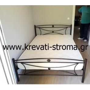 Κρεβάτι διπλό μεταλλικό μαργαρίτα με στρώμα και τάβλες κομπλέ σετ ετοιμοπαράδοτο για στρώμα 140χ190 σε προσφορά