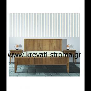 Κρεβάτι διπλό ρετρό σε νεοκλασσικό στυλ σαν παλιό από ακατέργαστο ξύλο δρυς.Παράγεται και ολόκληρο το σετ κρεβατοκάμαρας
