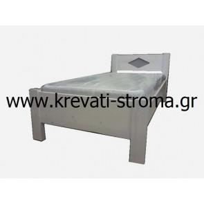 Κρεβάτι για νέους και παιδιά από ξύλα-μαδέρια 10 πόντους μασίφ ξύλο πεύκο (για πέργολες)