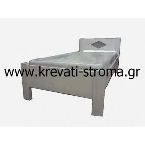 Κρεβάτι εναμισάρι για ημίδιπλο στρώμα 110c.m. για νέους και παιδιά από ξύλα-μαδέρια 10 πόντους μασίφ ξύλο πεύκο (για πέργολες)