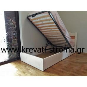 Αποθηκευτικός χώρος-μπαούλο με κεφαλάρι (πολλές επιλογές σε χρώματα και σχέδια) για κρεβάτι παιδικού υπνοδωματίου σε μονή διάσταση για στρώμα 0.90χ1.90