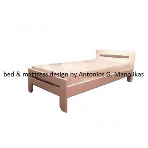 Κρεβάτι μασίφ ξύλο πεύκο λευκό για παιδιά