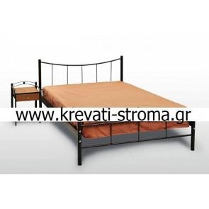 Κρεβάτι μεταλλικό ημίδιπλο skroutz φτηνό οικονομικό προσφοράς για στρώμα 1.10x1.90 στρώμα σε χρώμα χαλκόμαυρο.Ετοιμοπαράδοτο