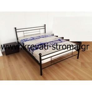 Κρεβάτι σιδερένιο-μεταλλικό διπλό για στρώμα 150χ200 ή υπέρδιπλο για στρώμα 160χ210