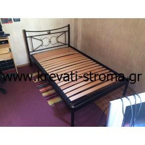 Κρεβάτι μεταλλικό χωρίς ποδαρικό (το στρώμα είναι στον αέρα) για να κάθεται κάποιος,να μην βρίσκουν τα πόδια και να μην χτυπά όταν περνά με ορθοπεδικό τελάρο με λάττες πυκνό