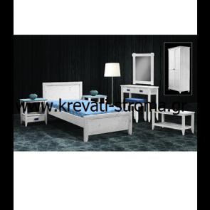 Κρεβάτι μονό-διπλό (επιπλά) από μασίφ ξύλο κατάλληλο για περιοχές με υψηλή υγρασία (χειμερινούς-καλοκαιρινούς προορισμούς)