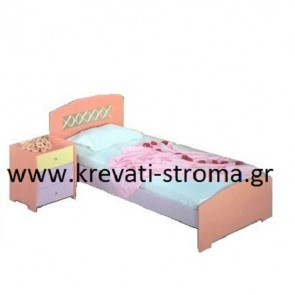 Κρεβάτι μονό για παιδί-κορίτσι