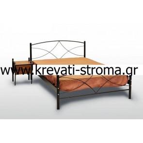 Κρεβάτι ημίδιπλο με ορθοπεδικό στρώμα (110χ190) και σανίδες μασίφ κομπλέ σετ σε τιμή προσφοράς (άμεση παραλαβή-ετοιμοπαράδοτο)