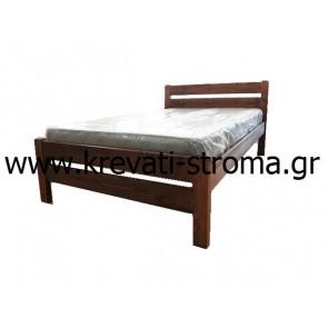 Κρεβάτι διπλό για 140 στρώμα από μασίφ ξύλο πεύκο κατάλληλο για εξοχικά,νησιά,χωριά και φοιτητές