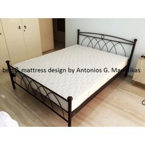 Κρεβάτι σε διπλή διάσταση από σίδερο-μέταλλο