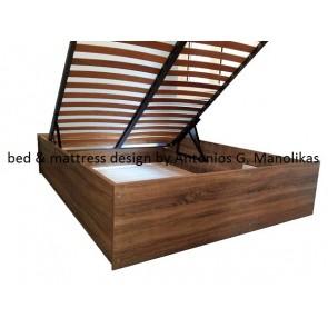 Κρεβάτι,βάση για στρώμα,ξύλινο κουτί με αποθηκευτικό