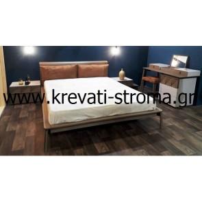 Κρεβατοκάμαρα new από ξύλο δρυς χτενιστό-φουρνιστό σε συνδυασμό με λάκα σε απίστευτη ποιότητα ελληνικού εργοστασίου κατασκευής