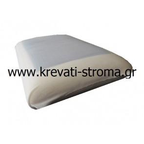 Μαξιλάρι ύπνου για κρεβάτι-στρώμα 060χ040 μνήμης-visco memory foam,coll gel σωστής θερμοκρασίας,διπλής όψης(χωρίς gel)