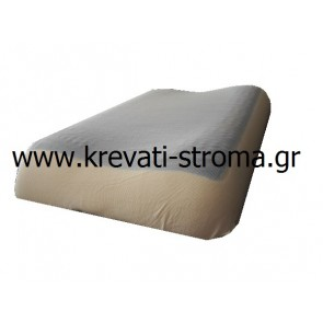 Μαξιλάρι ύπνου για κρεβάτι-στρώμα 062χ037 με αυχενική στήριξη,μνήμης-visco memory foam,coll gel σωστής θερμοκρασίας,διπλής όψης(χωρίς gel)
