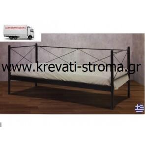 Μεταλλικός καναπές και κρεβάτι ελληνικής παραγωγής σε τιμή πακέτου προσφοράς με δώρο στρώμα με ελατήρια και βάση στρώματος.ΚΑΙ ΔΩΡΕΑΝ ΜΕΤΑΦΟΡΙΚΑ