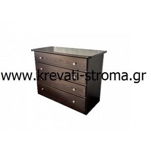 Συρταριέρα-σιφονιέρα αποθηκευτικός χώρος με ξύλινη από μασίφ ξύλο σε όλα τα χρώματα και σε όλες τις διαστάσεις