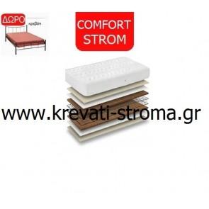 Στρώμα comfort strom need μονό σε διαστάσεις 0.90χ1.90 ή 0.90χ2.00 και δώρο ένα μεταλλικό κρεβάτι