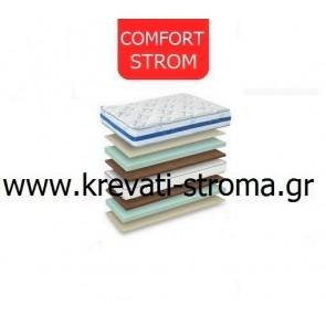 Στρώμα με συνδεδεμένα ελατήρια comfort strom sky μονό μέχρι 90 πόντους