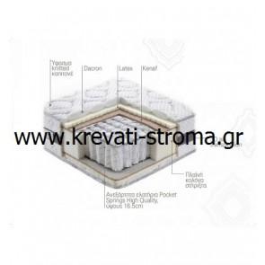 Στρώμα linea strom bioflex υπέρδιπλο με λάτεξ,σε διάσταση 160χ200,σε τιμές προσφοράς & δώρο 2 μαξιλάρια πλενόμενα.