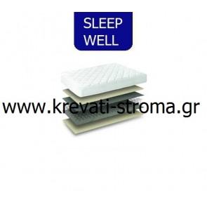 Στρώμα απλό οικονομικό προσφοράς sleep well foam διπλό σε διάσταση 150χ200.ΕΤΟΙΜΟΠΑΡΑΔΟΤΟ