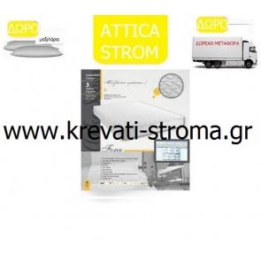Στρώμα ορθοπεδικό attica strom force σε διάσταση μονό 090χ190 ή 090χ200.ΕΤΟΙΜΟΠΑΡΑΔΟΤΟ