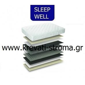Στρώμα sleep well hard για υπερδιπλες διαστάσεις από 151-160 c.m. σκληρό στρώμα.ΕΤΟΙΜΟΠΑΡΑΔΟΤΟ