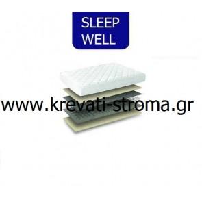 Στρώμα sleep weel prime για μονό κρεβάτι έως 90 πόντους