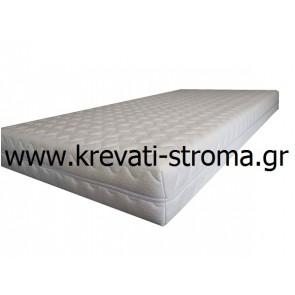 Στρώμα ύπνου αφρού χωρίς ελατήρια,αμέταλλο,ορθοπεδικό,σκληρό για διάσταση κρεβατιού διπλό 140x200(στρώμα) με ύφασμα με φερμουάρ πλενόμενο
