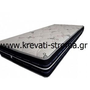 Στρώμα ύπνου αφρού χωρίς μέταλλα (ελατήρια),ανατομικό,σύστημα αερισμού 3d,ύφασμα με φερμουάρ για να πλένεται,σε ημίδιπλη διάσταση 110χ190 (στρώμα)